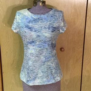 Coldwater Creek Short Sleeve Two Layered Tee Top